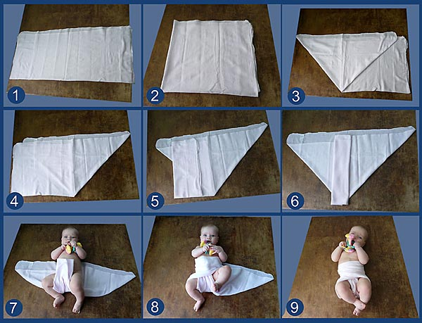 Как сшить марлевые подгузники для новорожденного