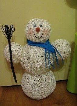 """Саморобка """"Сніговик"""" своїми руками"""
