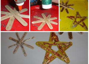Рождественская звезда поделки