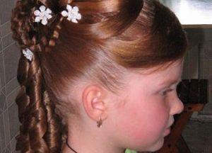 Красивые причёски на длинные волосы фото детям
