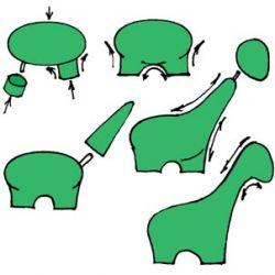 Як зробити з пластиліну динозавра?