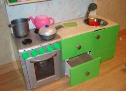 Детская кухня своими руками очень простая конструкция 28