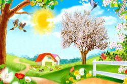 Картинки про весну для дитини
