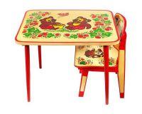 Дитячий стіл і стілець від 1 року