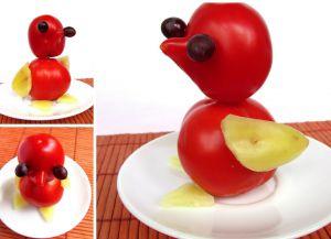 Поделка из овощей из помидор 38