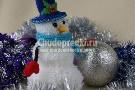 Сніговик з ниток: фото, ідеї та майстер-класи