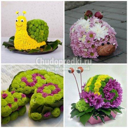 Поделка из живых цветов своими руками для детского сада 64