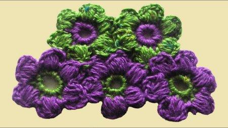 Пишний квітка гачком: схема в'язання та опис